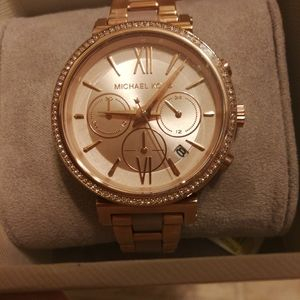 New Micheal Kors Sofie gold-tone and acetone watch